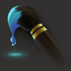 Paint brush icon with blue paint